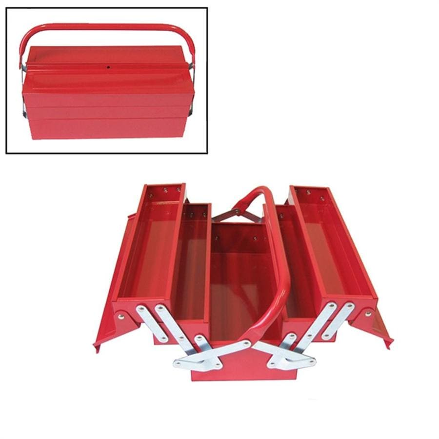 Excel 14.6-in Red Steel Tool Box