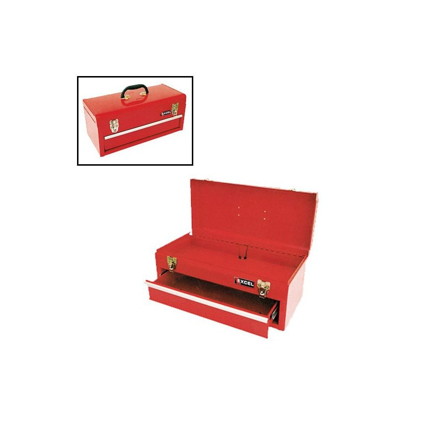 Excel Excel Tb131 High Gloss Red 1 Drawer Portable Metal Toolbox