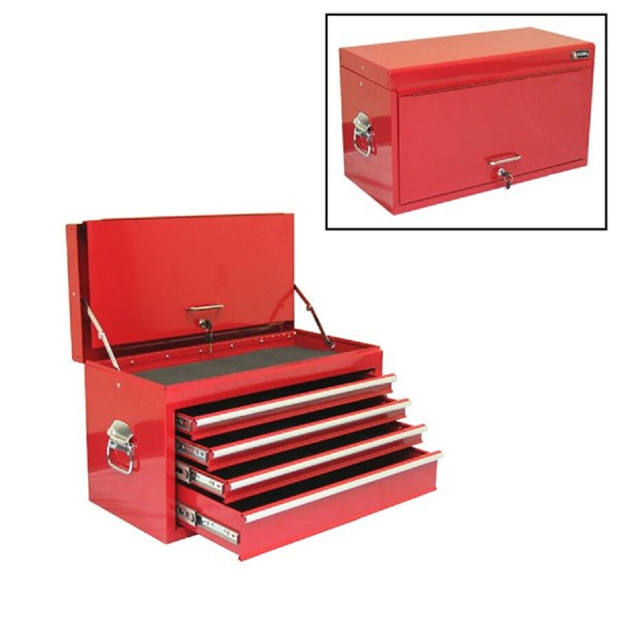 Excel 15.2-in x 26.3-in 4-Drawer Ball-Bearing Steel Tool Chest (Red)
