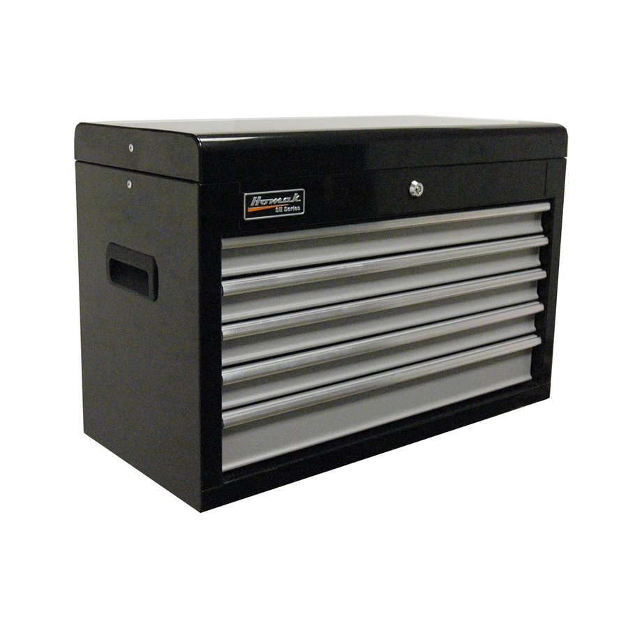 Homak SE 17-in x 26-in 5-Drawer Ball-Bearing Steel Tool Chest (Black)