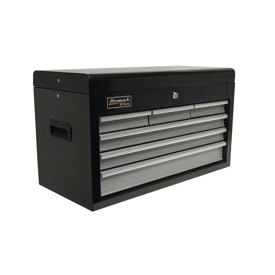 Homak SE 14.875-in x 26-in 6-Drawer Ball-Bearing Steel Tool Chest (Black)