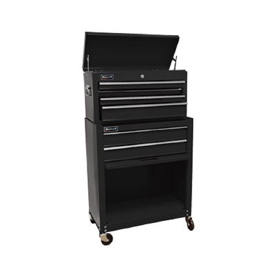 Homak 42.75-in x 24.5-in 5-Drawer Friction Steel Tool Cabinet (Black)
