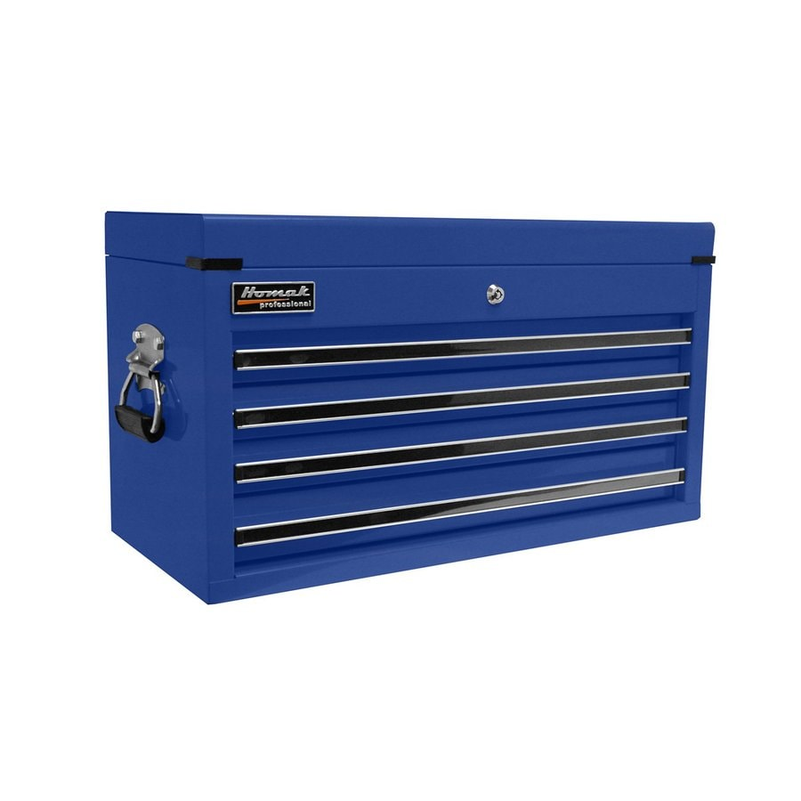 Homak Professional 14.75-in x 26-in 4-Drawer Ball-Bearing Steel Tool Chest (Blue)