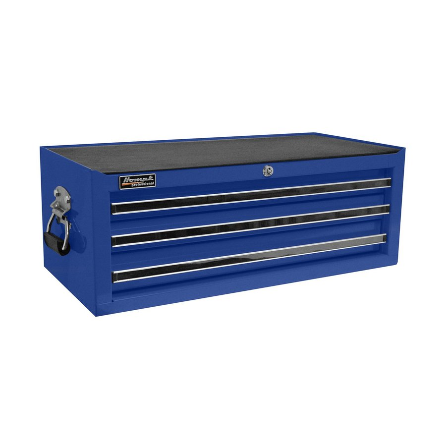 Homak Professional 9.875-in x 26.25-in 3-Drawer Ball-Bearing Steel Tool Chest (Blue)