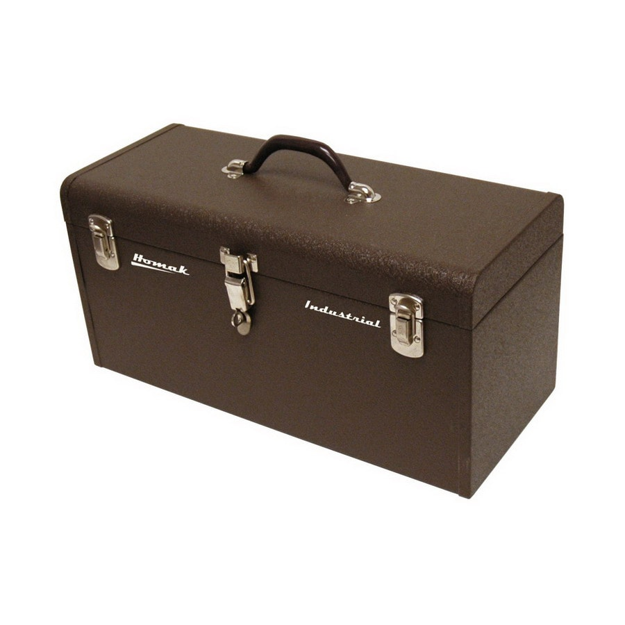 Homak 20.125-in Brown Steel Lockable Tool Box