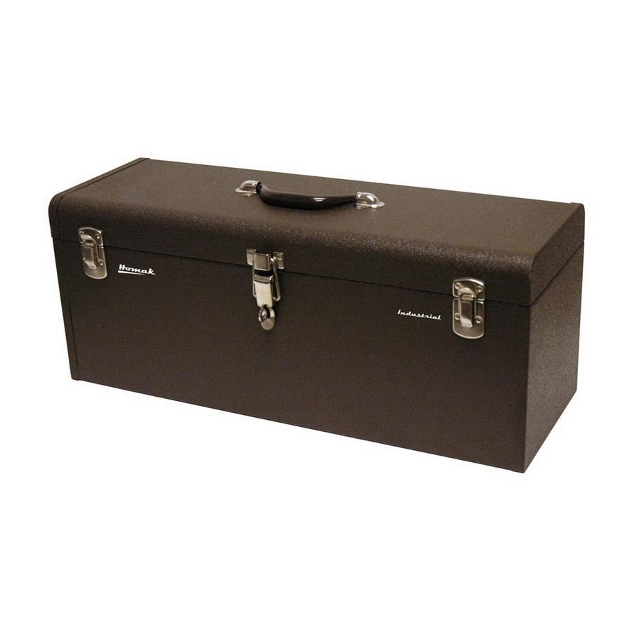 Homak 24.125-in Brown Steel Lockable Tool Box