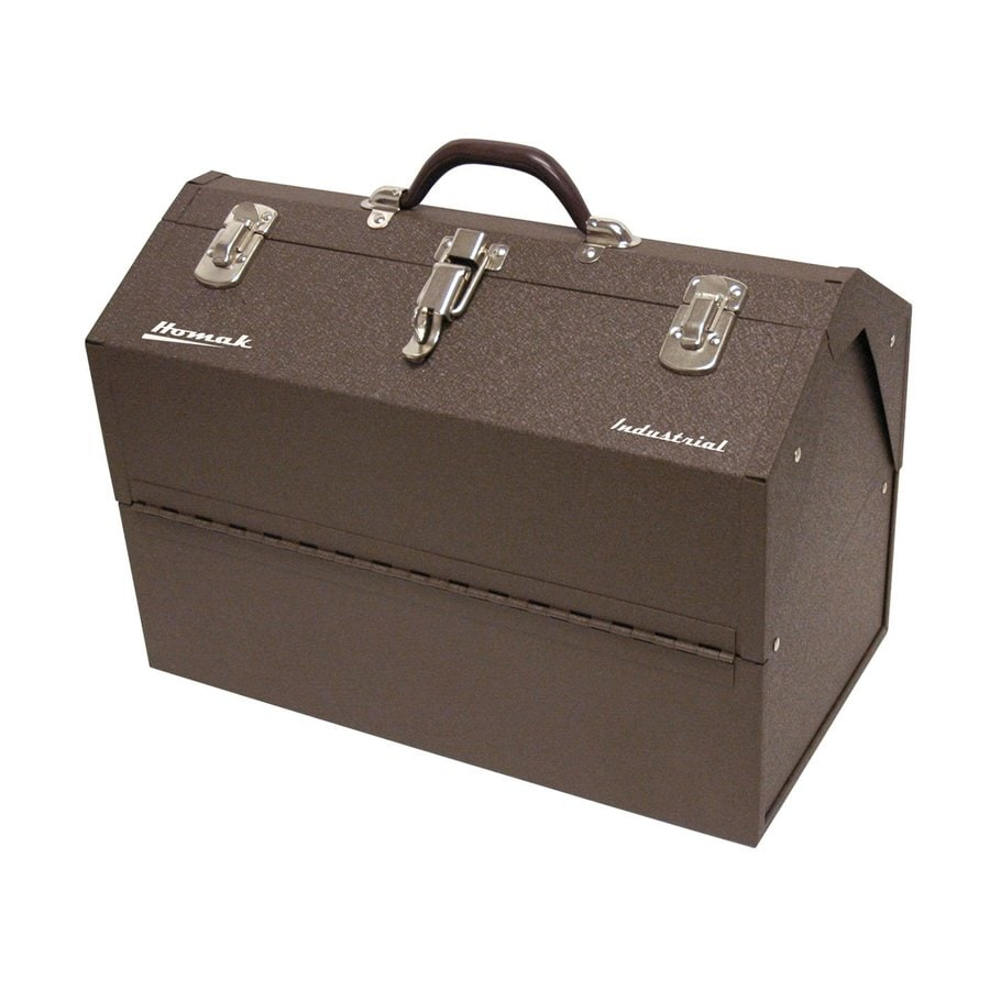 Homak 18.125-in Brown Steel Lockable Tool Box