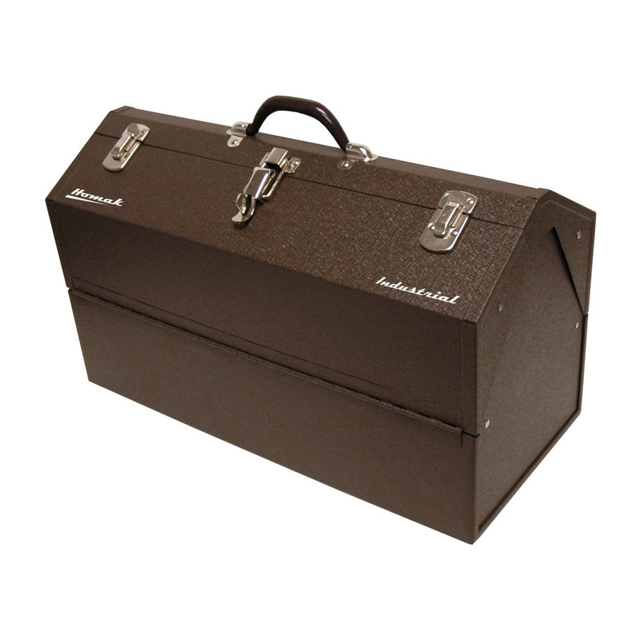 Homak 22.125-in Brown Steel Lockable Tool Box