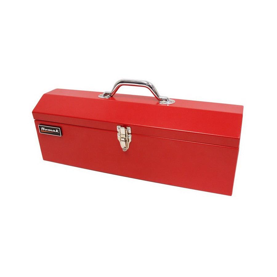 Homak 19-in Red Steel Lockable Tool Box