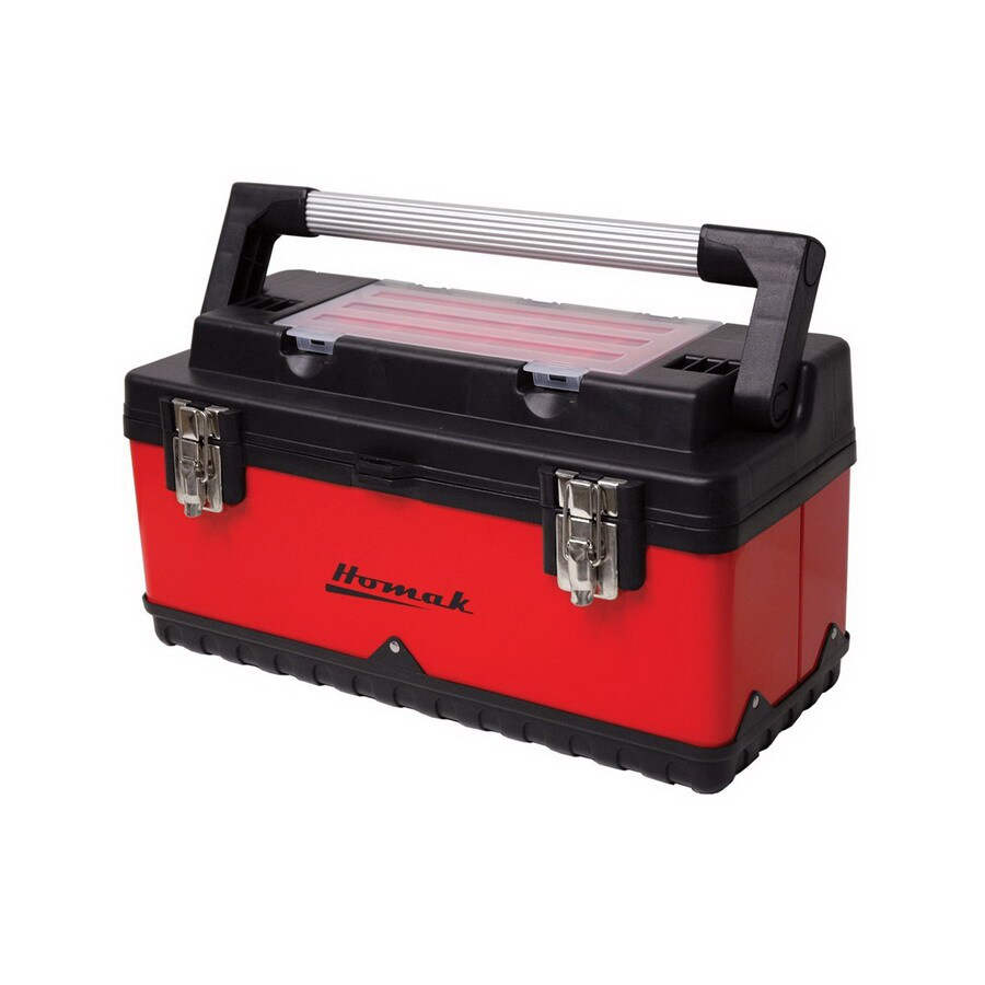 Homak 19.5-in Red Steel Lockable Tool Box
