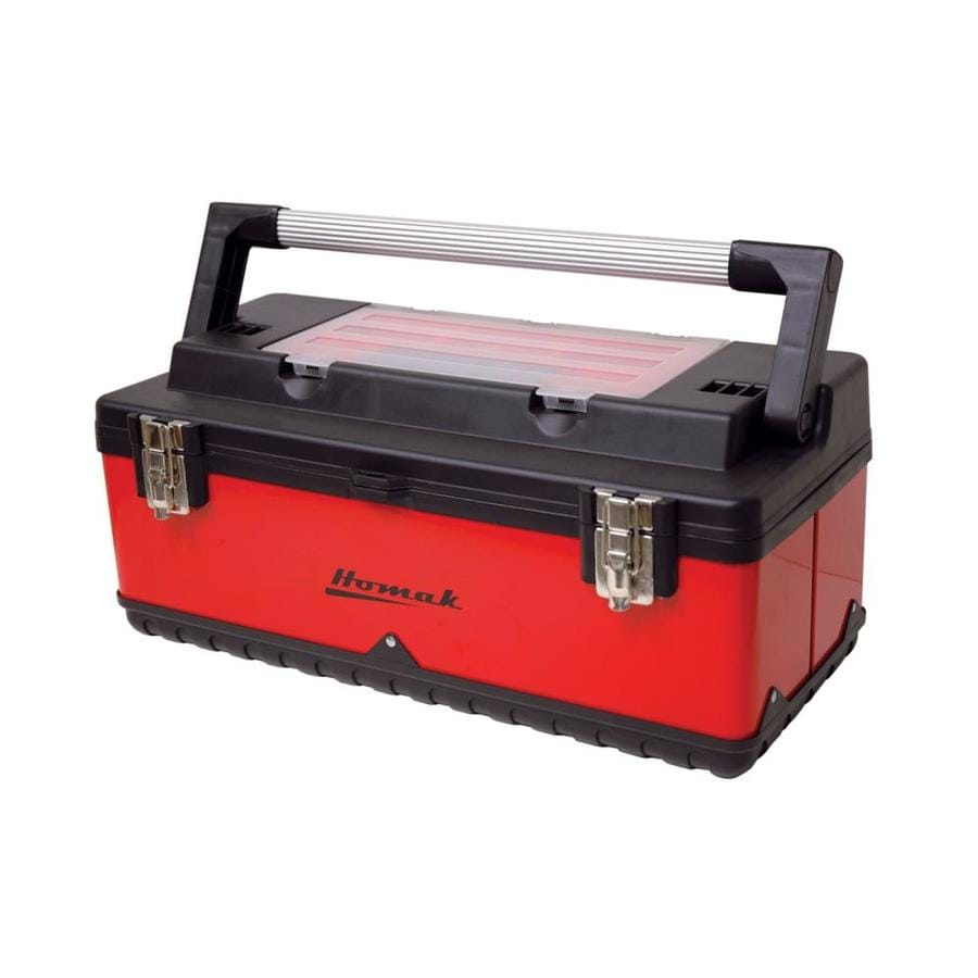 Homak 22.625-in Red Steel Lockable Tool Box
