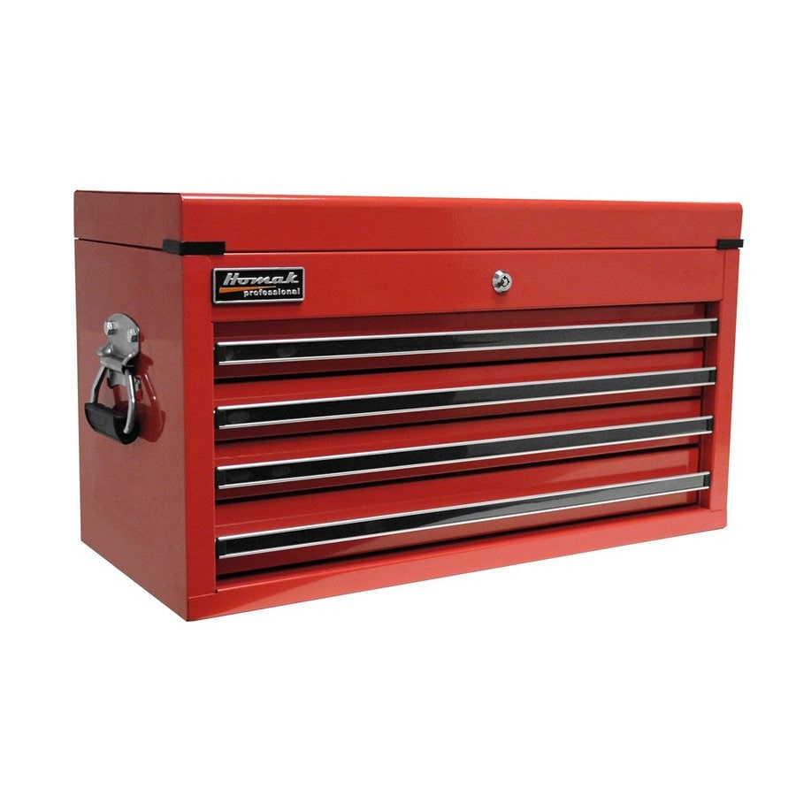 Homak Professional 14.75-in x 26-in 4-Drawer Ball-Bearing Steel Tool Chest (Red)