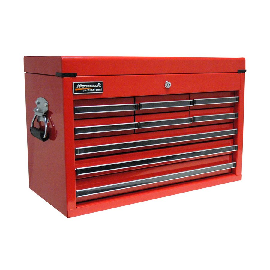 Homak Professional 17-in x 26-in 9-Drawer Ball-Bearing Steel Tool Chest (Red)