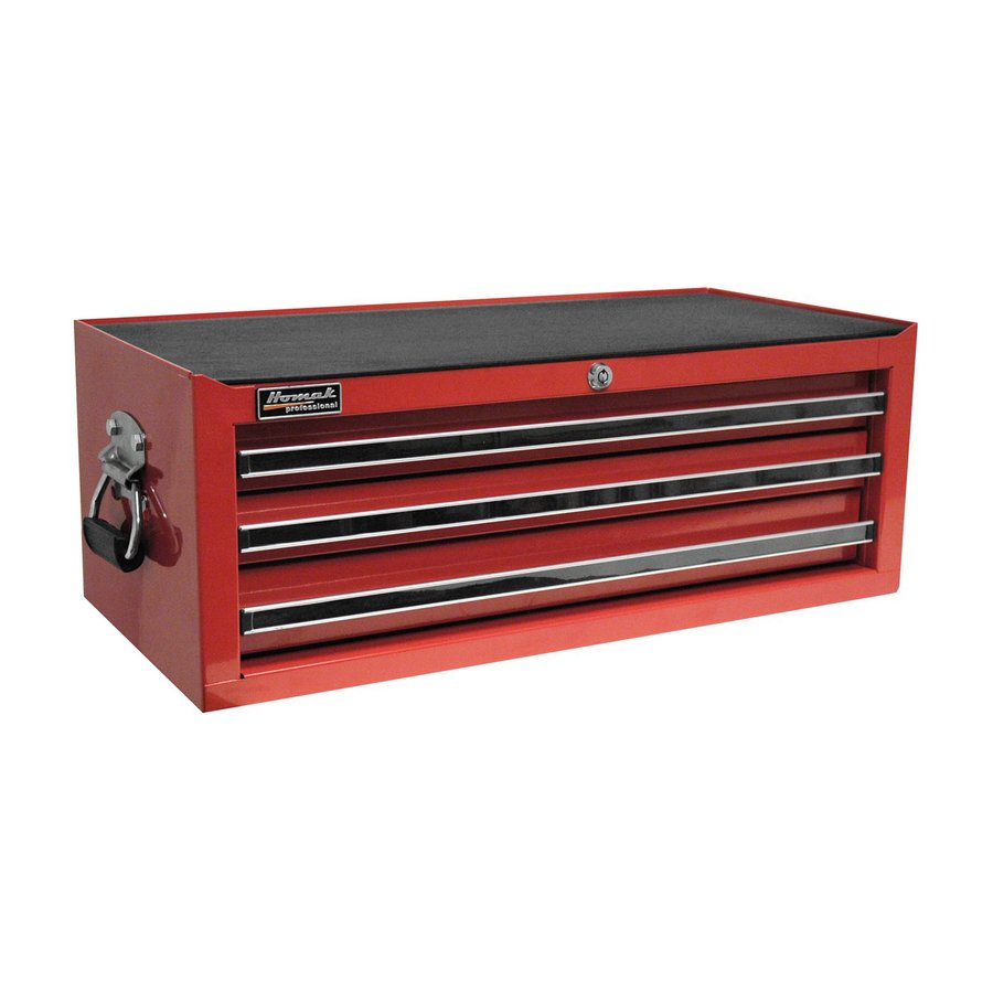 Homak Professional 9.875-in x 26.25-in 3-Drawer Ball-Bearing Steel Tool Chest (Red)