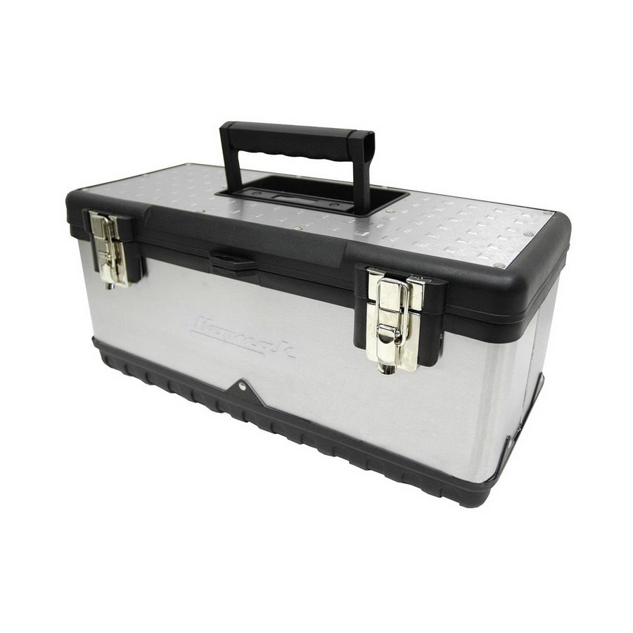 Homak 19.875-in Silver Steel Lockable Tool Box