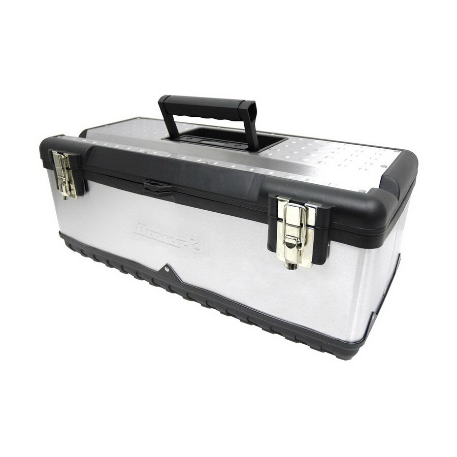 Homak 23.25-in Silver Steel Lockable Tool Box