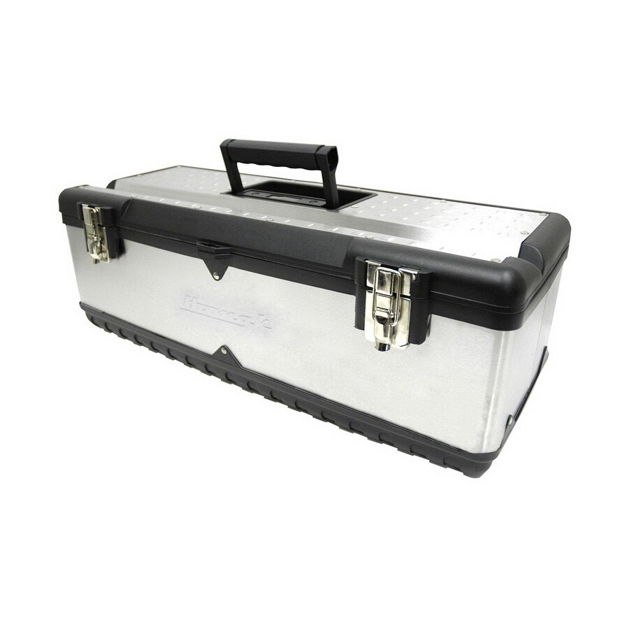 Homak 26-in Silver Steel Lockable Tool Box