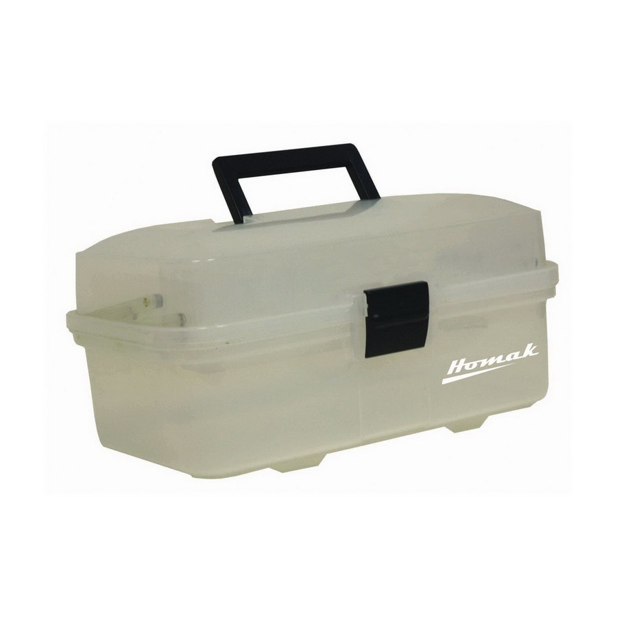 Homak 13.625-in Clear Plastic Lockable Tool Box