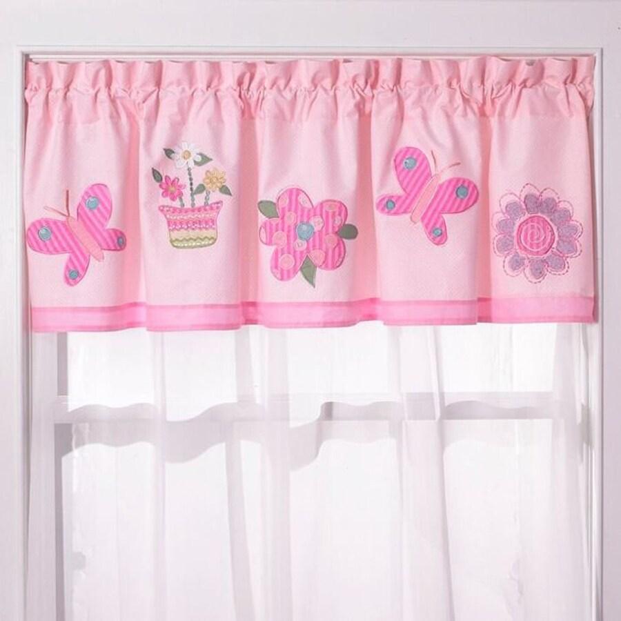 My World Anna's Dream 70-in Pink Cotton Rod Pocket Valance