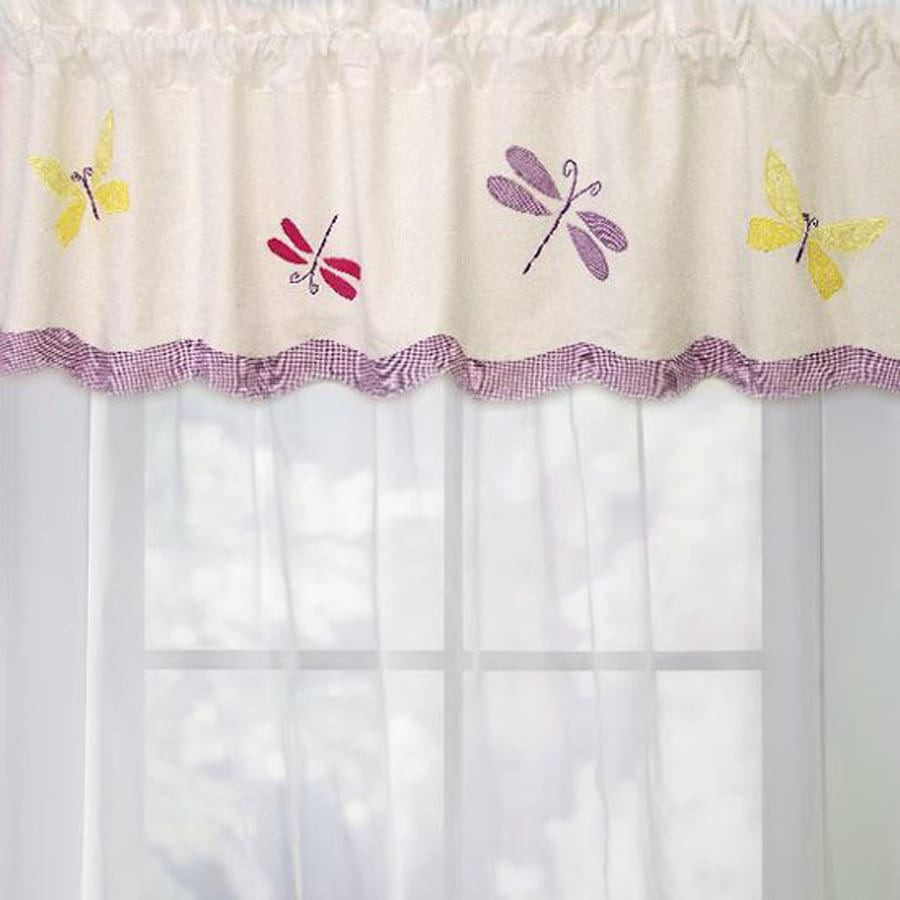 My World Dragonfly Butterfly 70-in Cotton Rod Pocket Valance