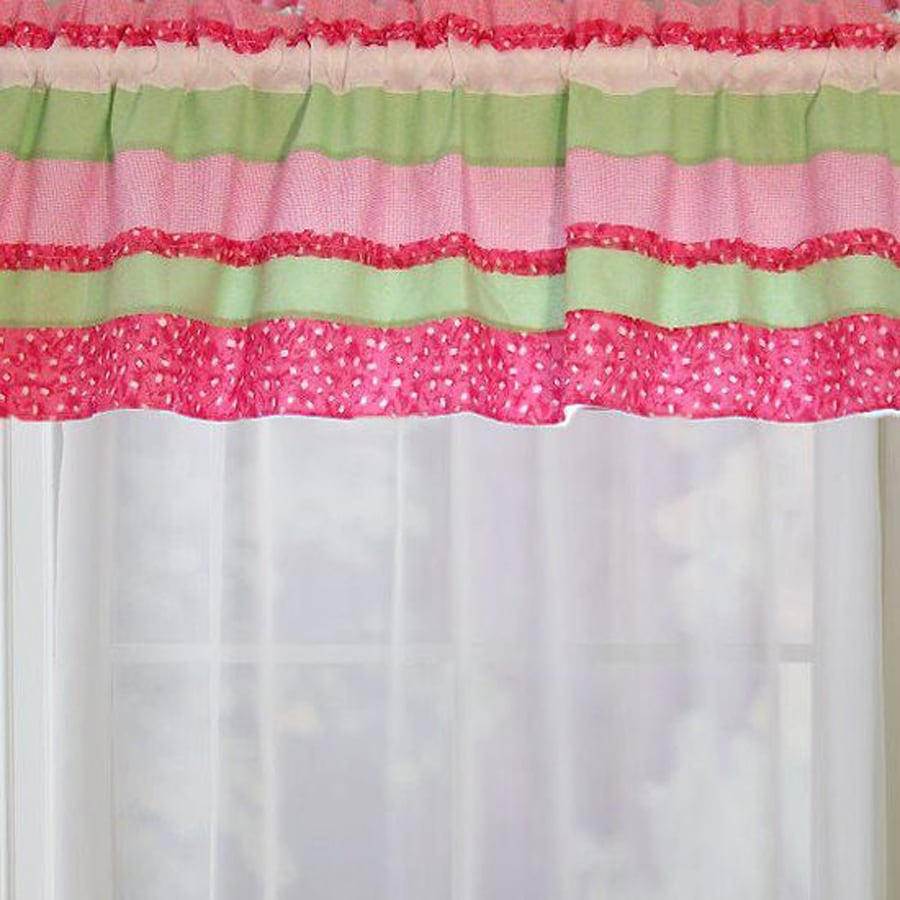 My World Anna's Ruffle 70-in Pink Valance