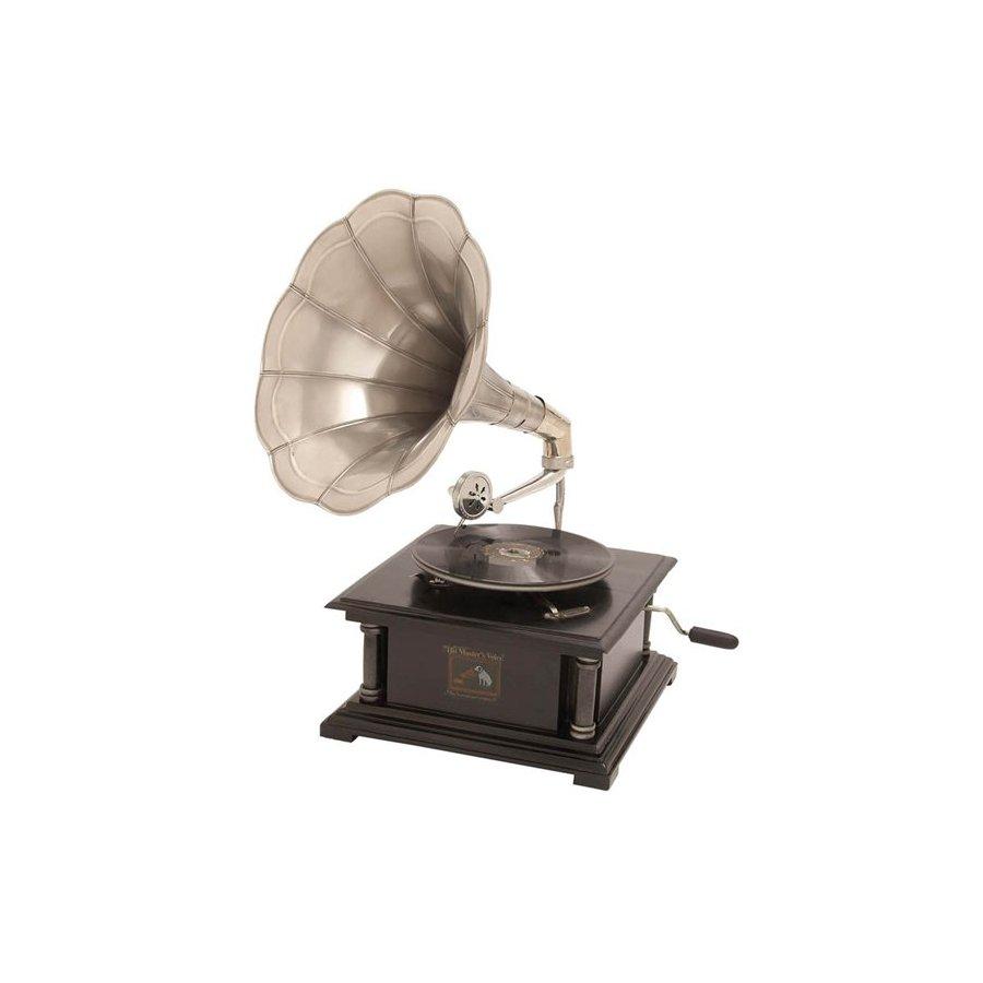 Woodland Imports Wood Gramophone