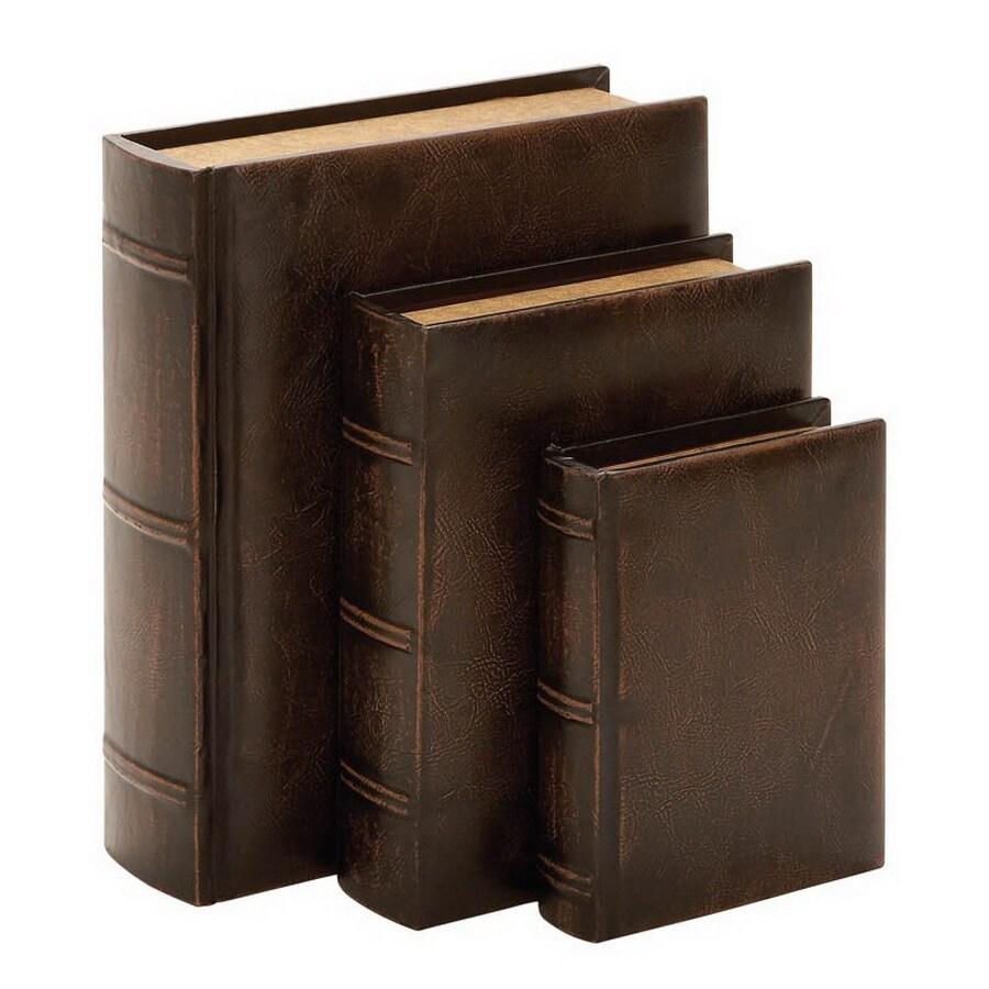 Woodland Imports Wood and Leather Book Set