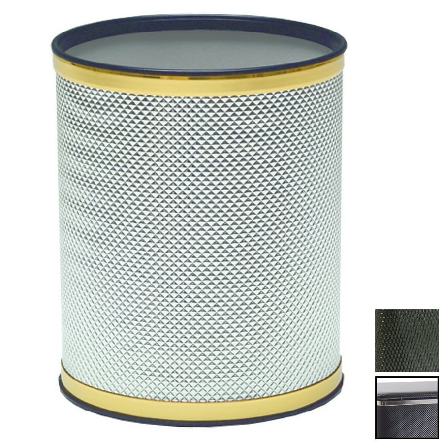 Redmon Bath Jewelry Black Plastic Wastebasket