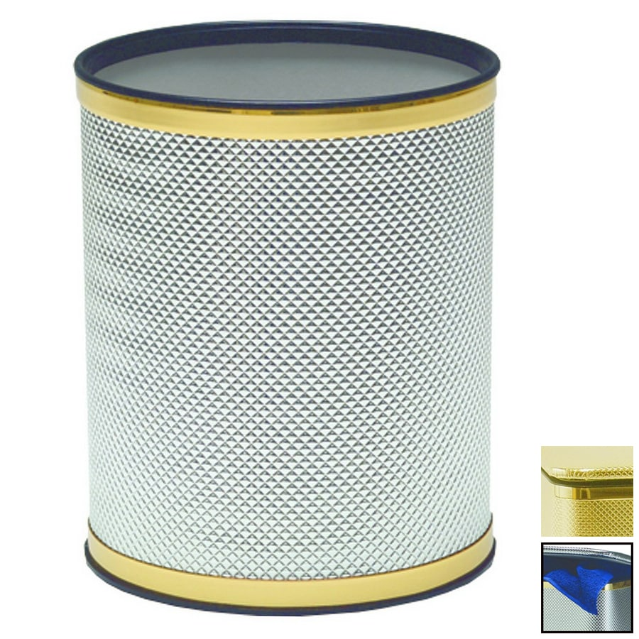 Redmon Bath Jewelry Gold Plastic Wastebasket