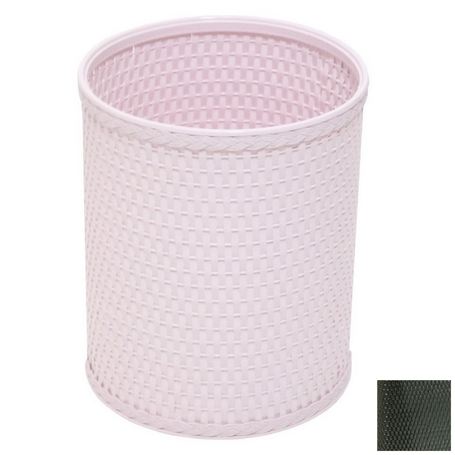 Redmon Chelsea Black Mixed Material Wastebasket
