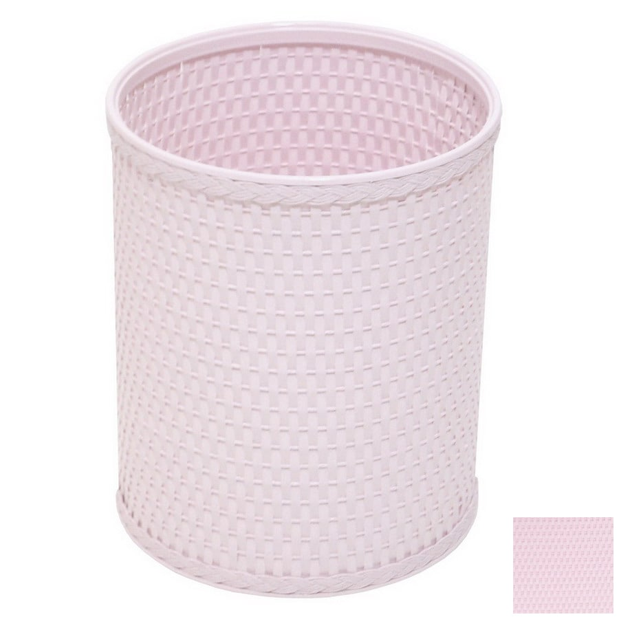 Redmon Chelsea Crystal Pink Mixed Material Wastebasket