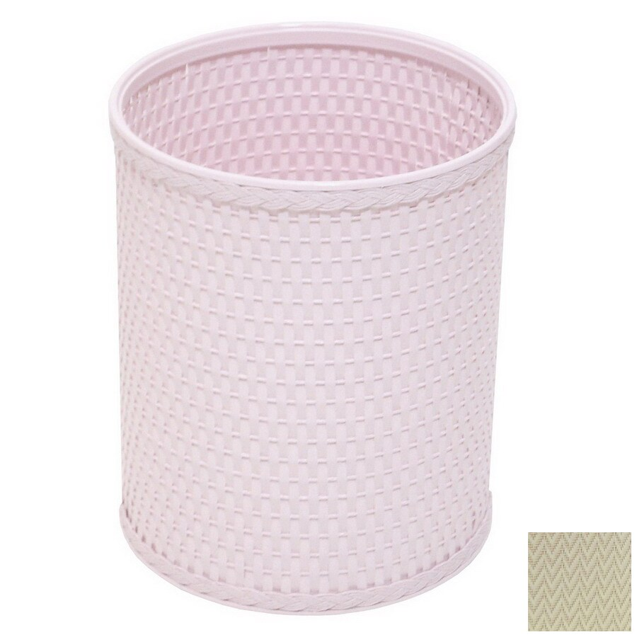 Redmon Chelsea Cream Mixed Material Wastebasket