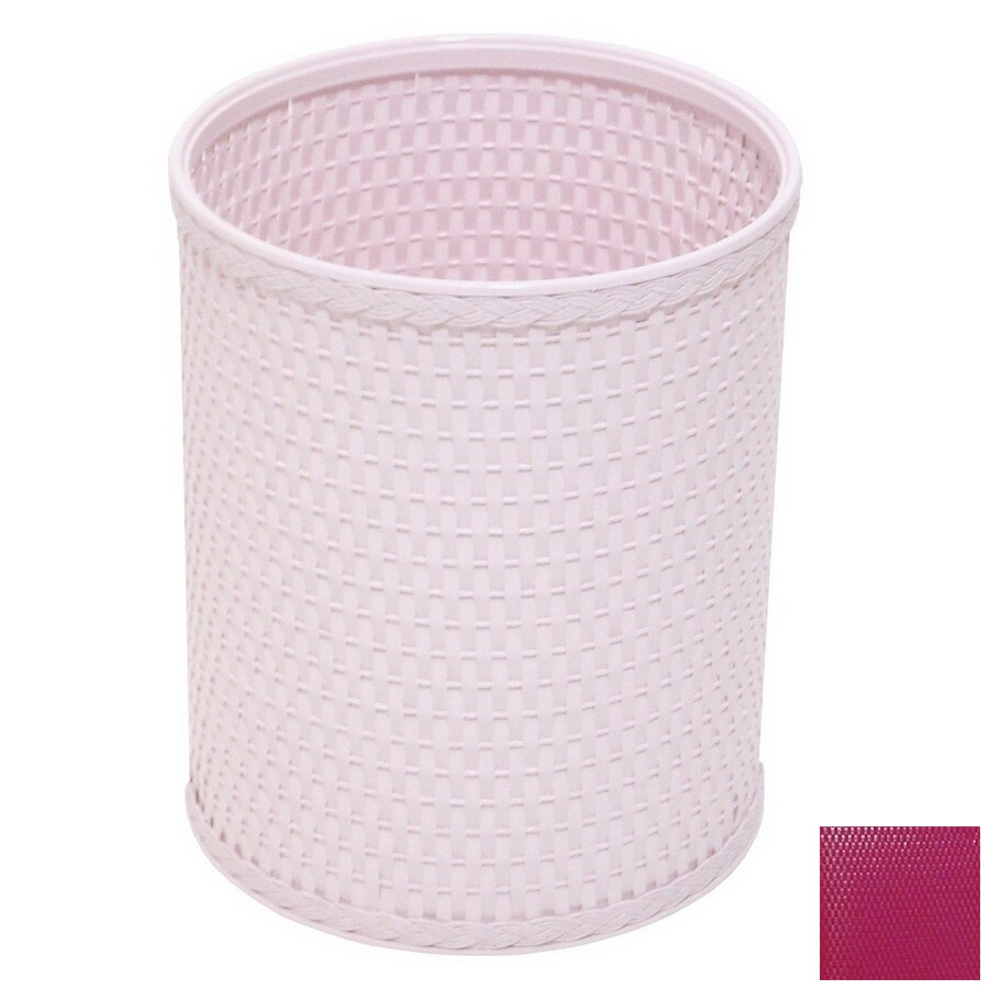 Redmon Chelsea Raspberry Mixed Material Wastebasket
