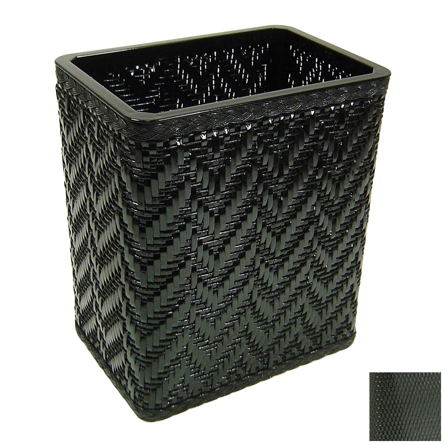 Shop redmon elegante black plastic wastebasket at - Elegant wastebasket ...