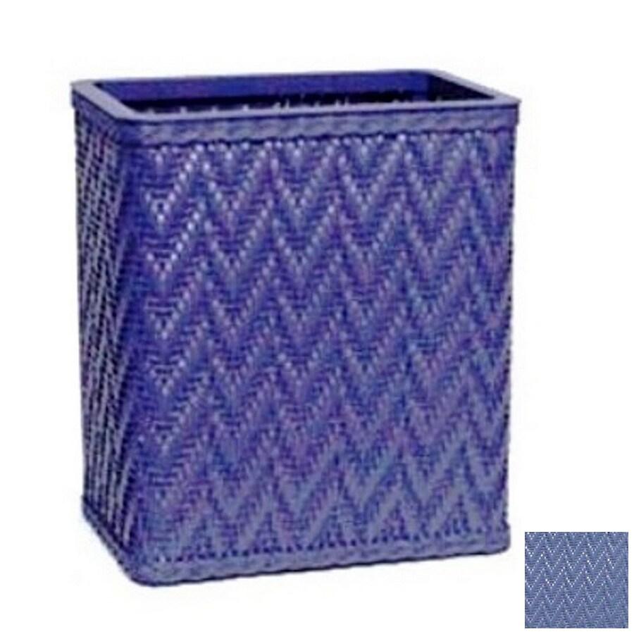 Redmon Elegante Coastal Blue Plastic Wastebasket