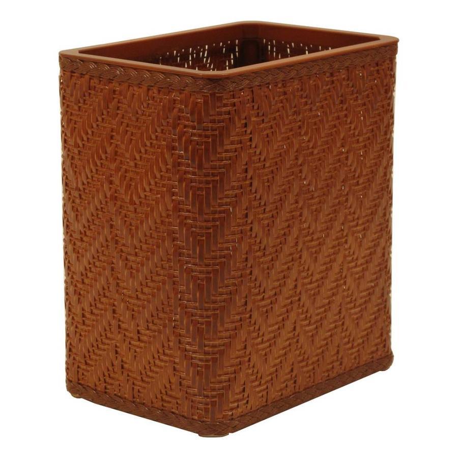Redmon Elegante Nutmeg Plastic Wastebasket