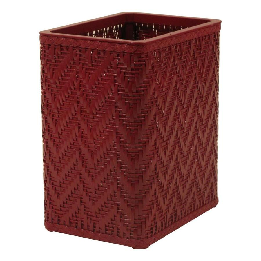 Shop Redmon Elegante Raspberry Plastic Wastebasket At