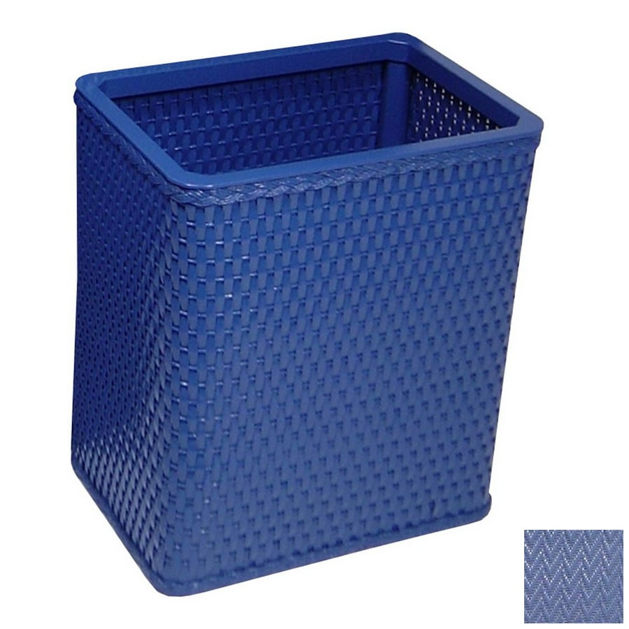 Redmon Chelsea Coastal Blue Mixed Material Wastebasket