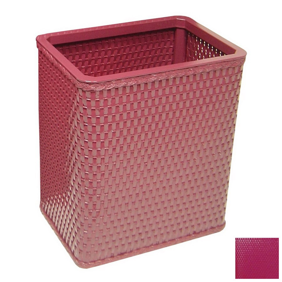 Shop Redmon Chelsea Raspberry Mixed Material Wastebasket At