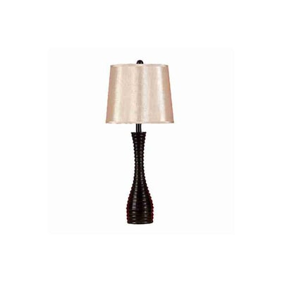 Woodland Imports 29 In Brown Indoor Table Lamp With Fabric Shade