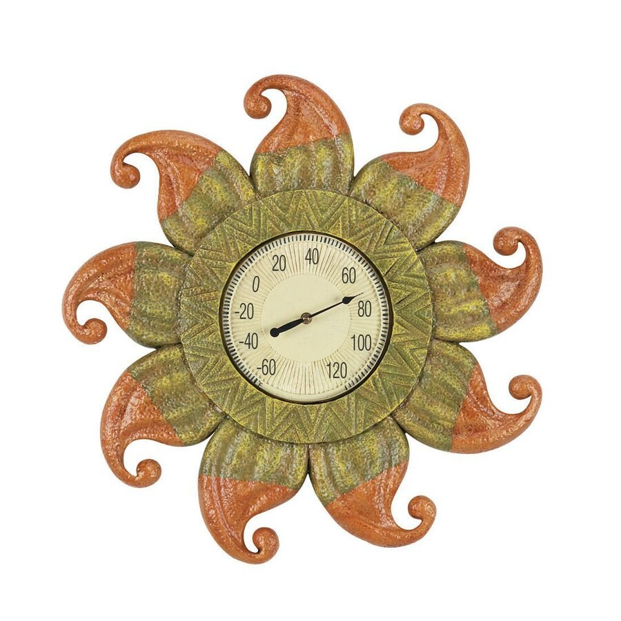 RAM Gameroom Products Wireless Indoor/Outdoor Handpainted Sun Thermometer