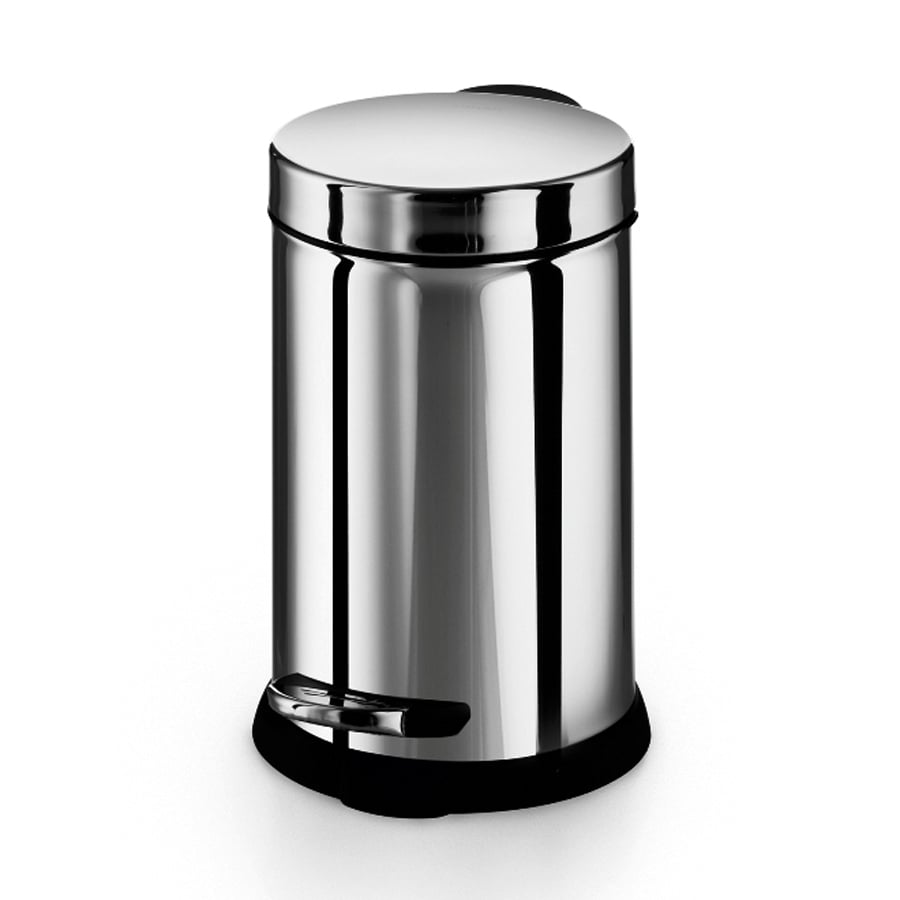 WS Bath Collections Otel 3-Liter Stainless Steel Indoor Trash Can with Lid