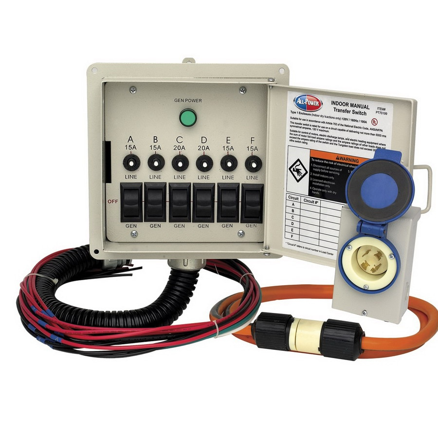 All Power America Indoor Manual Transfer Switch Kit At