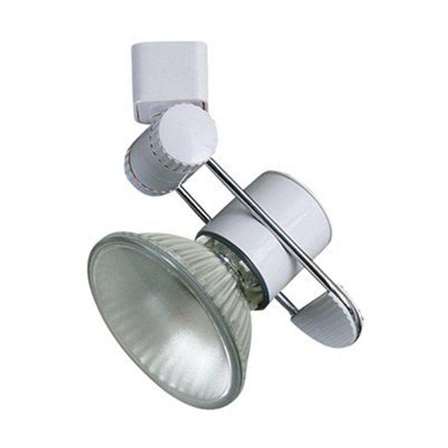 Cal Lighting 1-Light White Flat Back Linear Track Lighting Head