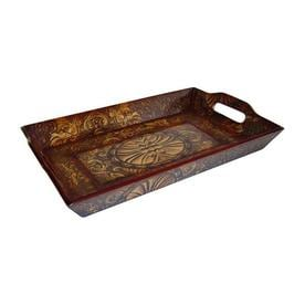 Cheungu0027s 16.25 In X 10.25 In Brown Wood Rectangle Serving Tray