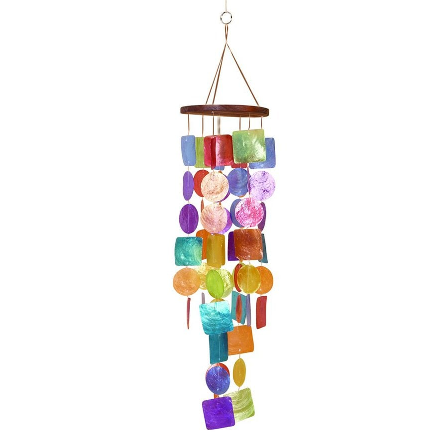 Woodland Imports 20.5-in Multicolored Shell Modern Wind Chime