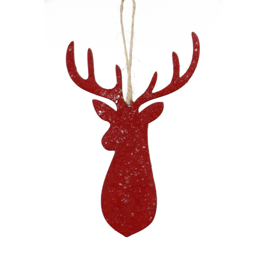 Holiday Living Red Deer Head Ornament