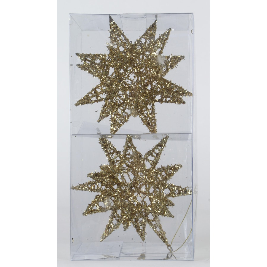 Holiday Living 2-Pack Gold Star Ornament