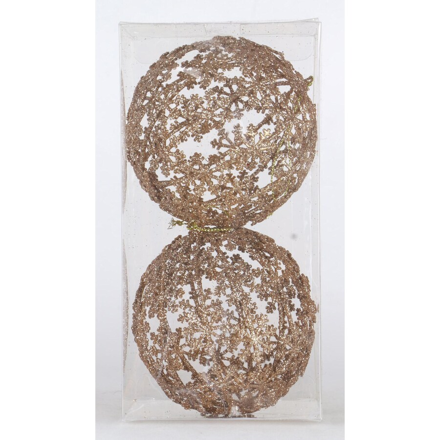 Holiday Living 2-Pack Antique Gold Snowflake Ornament Set