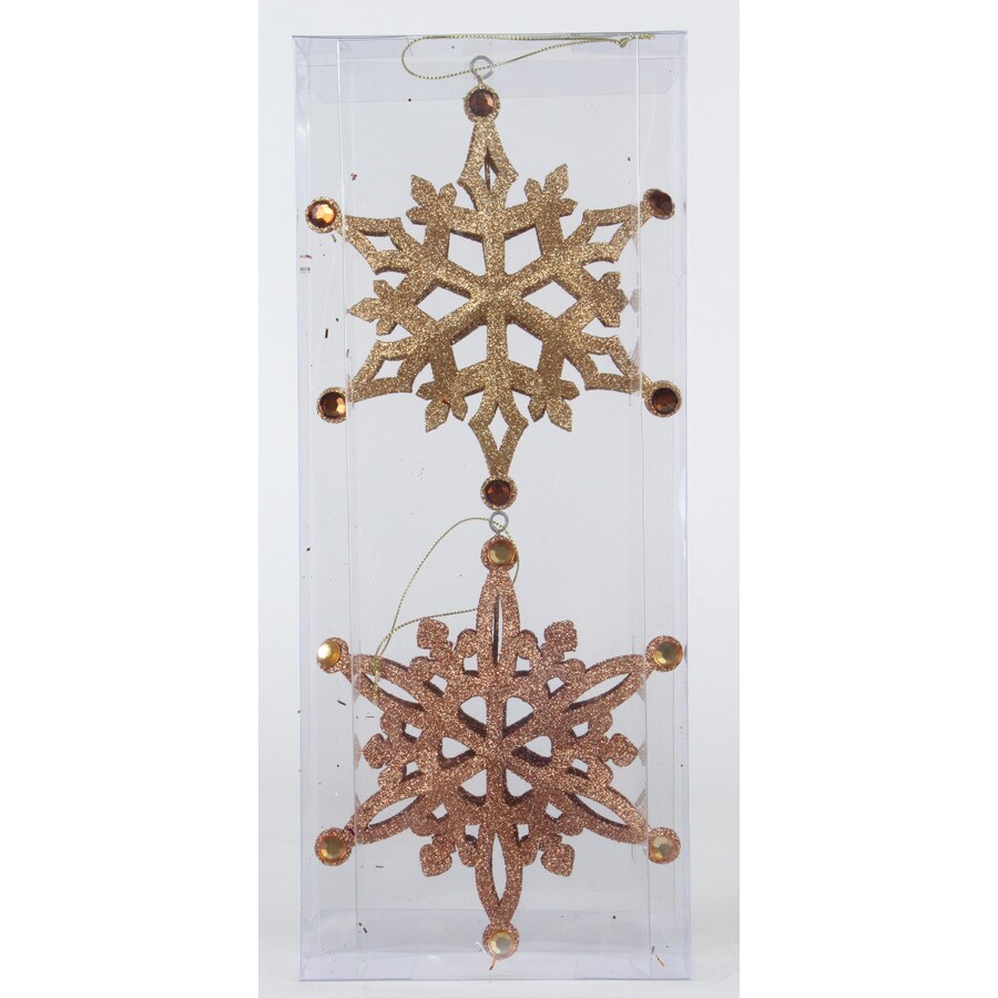 Holiday Living 2-Pack Bronze/Gold Snowflake Ornament Set